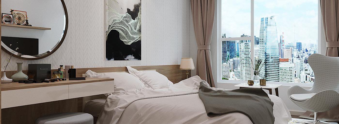 phòng ngủ đủ sáng